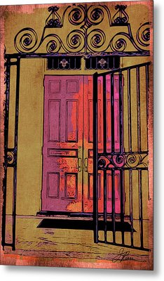 An Open Gate Metal Print by Joan Reese