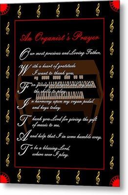An Organists Prayer_1 Metal Print by Joe Greenidge