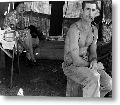 An Unemployed Lumber Worker Metal Print by Everett
