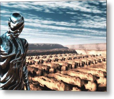 Metal Print featuring the digital art An Untitled Future by John Alexander