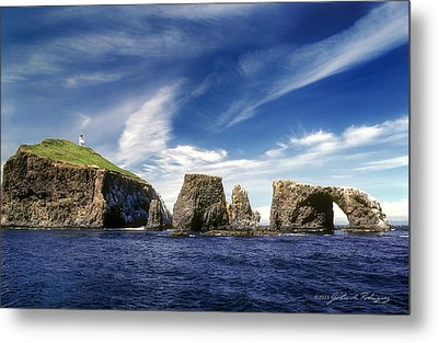 Channel Islands National Park - Anacapa Island Metal Print by John A Rodriguez