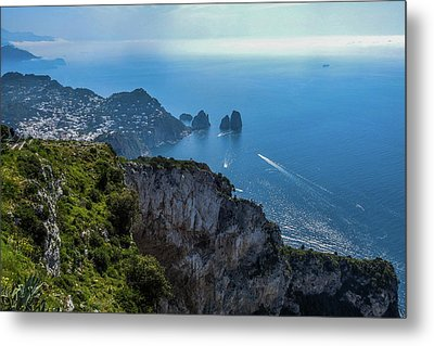 Anacapri On Isle Of Capri Metal Print