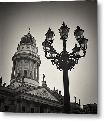 Analog Black And White Photography - Berlin - Gendarmenmarkt Square Metal Print by Alexander Voss