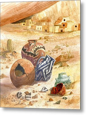 Metal Print featuring the painting Anasazi Remnants by Marilyn Smith