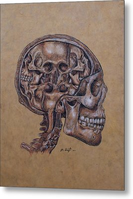 Anatomy Of A Schizophrenic Metal Print by Joe Dragt