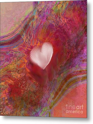 Anatomy Of Heart Metal Print
