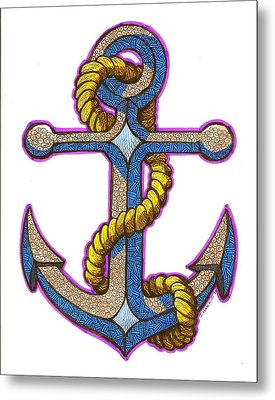Anchor Colorized Metal Print