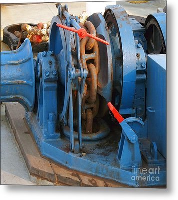 Anchor Winch Metal Print by Yali Shi