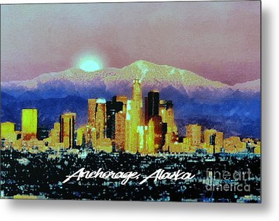 Anchorage-subdued Metal Print by Elaine Ossipov