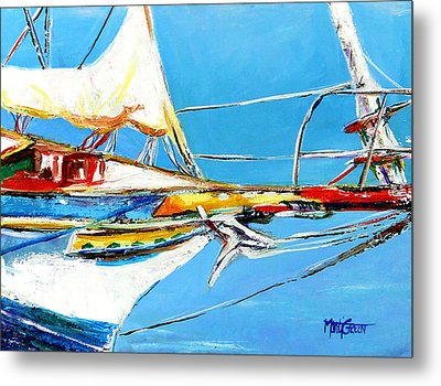 Anchored 2 Metal Print by Marti Green