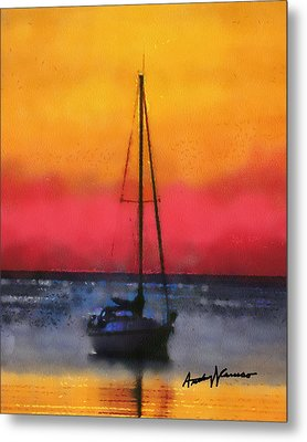 Anchored Metal Print by Anthony Caruso
