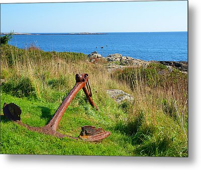 Anchored Metal Print by Corinne Rhode