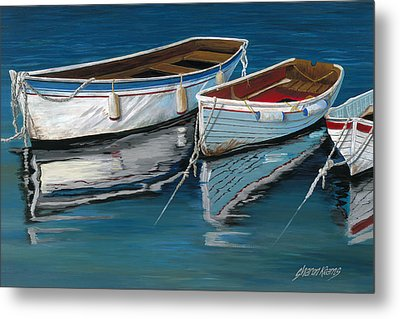 Anchored Reflections II Metal Print by Sharon Kearns