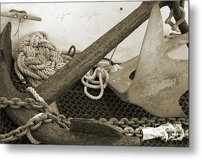 Anchors Metal Print
