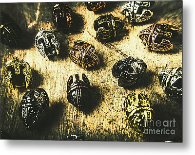 Ancient Battlefield Armour Metal Print