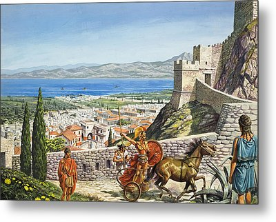 Ancient Corinth Metal Print by Roger Payne
