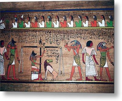 Ancient Egypt Underworld Court Of Final Judgement Metal Print by Daniel Hagerman