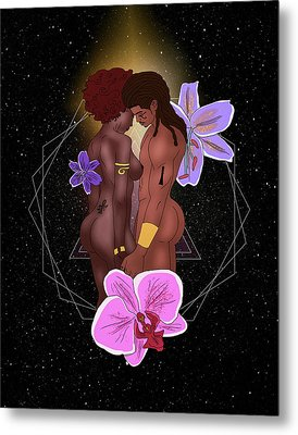 Ancient Lovers Connected Metal Print by Kenal Louis