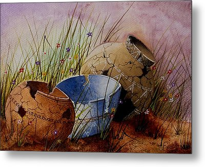 Ancient Relics A Paint Along With Jerry Yarnell' Study. Metal Print