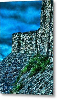 Ancient Ruins Fortress Kalemegdan Metal Print by Milan Karadzic