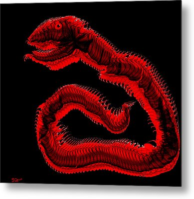 Ancient Serpent Symbol Metal Print by Abstract Angel Artist Stephen K
