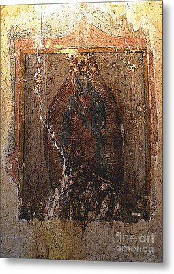 Ancient Virgin Of Guadalupe - Ex-convento Yuriria Metal Print by Mexicolors Art Photography