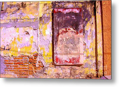 Ancient Wall 7 By Michael Fitzpatrick Metal Print by Mexicolors Art Photography