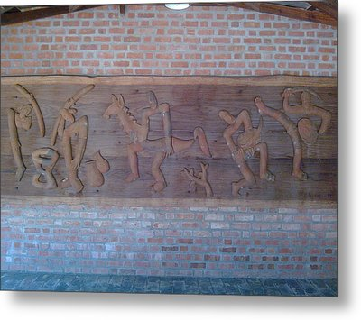 Ancient Wall Carving Metal Print by Joni Mazumder