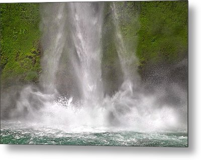 And Down Comes The Water Metal Print by Betsy Knapp