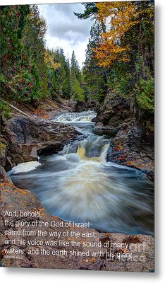 And His Voice Was Like The Sound Of Many Waters Metal Print by Wayne Moran