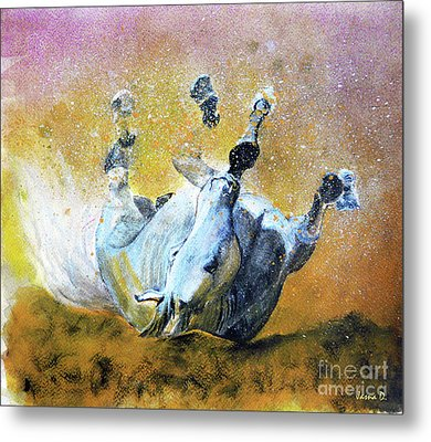 And The Fall Is Flight I Metal Print