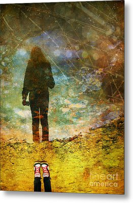 And Then He Turned Her World Upside Down Metal Print