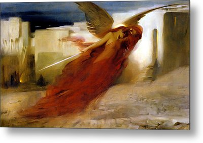 And There Was A Great Cry In Egypt Metal Print by Arthur Hacker