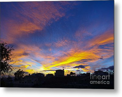 Andalusian Sunset Metal Print by Perry Van Munster