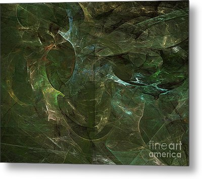 Metal Print featuring the digital art Andee Design Abstract 75 2017 by Andee Design