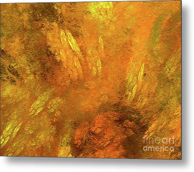 Metal Print featuring the digital art Andee Design Abstract 79 2017 by Andee Design