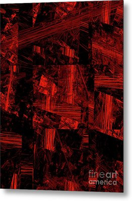 Metal Print featuring the digital art Andee Design Abstract 80 2017 by Andee Design