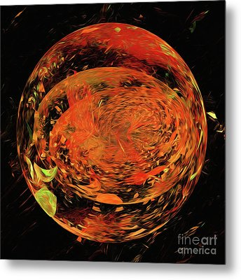 Metal Print featuring the digital art Andee Design Abstract 82 2017 by Andee Design