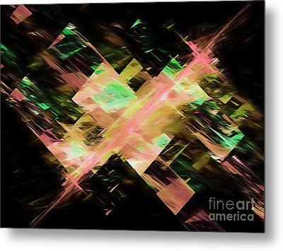 Metal Print featuring the digital art Andee Design Abstract 87 2017 by Andee Design