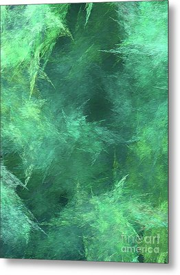Metal Print featuring the digital art Andee Design Abstract 88 2017 by Andee Design