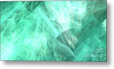 Metal Print featuring the digital art Andee Design Abstract 89 2017 by Andee Design