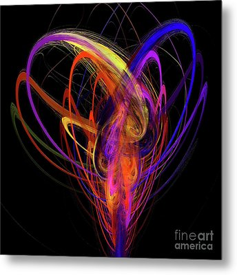 Metal Print featuring the digital art Andee Design Abstract 91 2017 by Andee Design