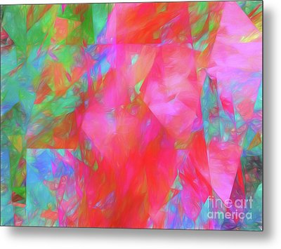 Metal Print featuring the digital art Andee Design Abstract 92 2017 by Andee Design
