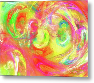 Metal Print featuring the digital art Andee Design Abstract 95 2017 by Andee Design
