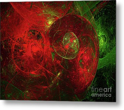 Metal Print featuring the digital art Andee Design Abstract 96 2017 by Andee Design