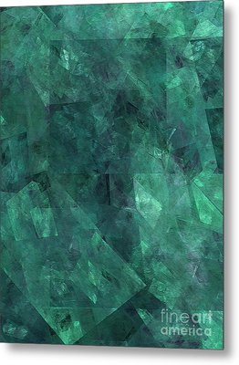 Metal Print featuring the digital art Andee Design Abstract 97 2017 by Andee Design