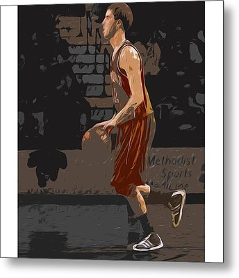 @andersonuniversity #indiana #painting Metal Print by David Haskett