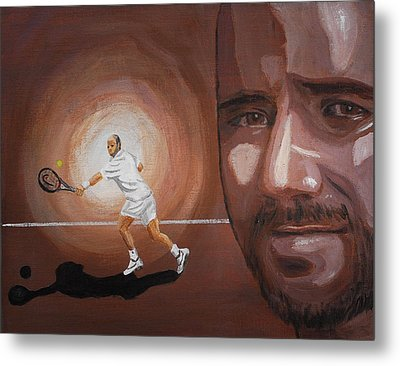 Andre Agassi Metal Print by Quwatha Valentine