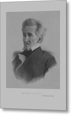 Andrew Jackson Metal Print by War Is Hell Store