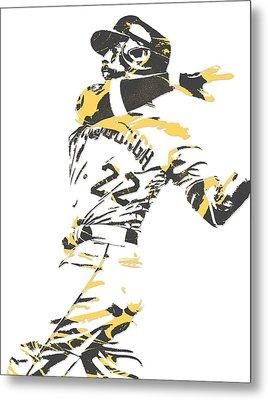 Andrew Mccutchen Pittsburgh Pirates Pixel Art 1 Metal Print